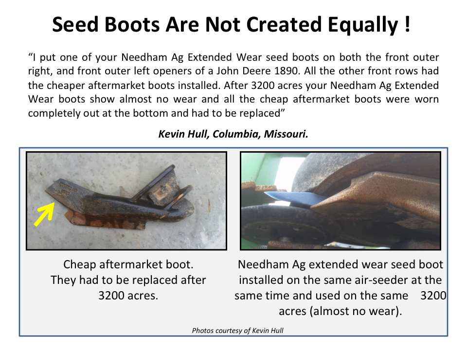 Needham Ag - Extended Wear Seed Boots for John Deere 60 and